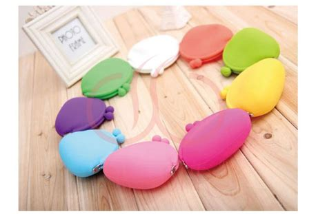 puse color rainbow 10 colors silicone coin purse lovely coin bag silicone money bag puse japanese style