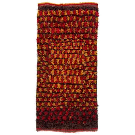 yellow and brown rug vintage tulu rug in yellow and brown colors for sale at 1stdibs