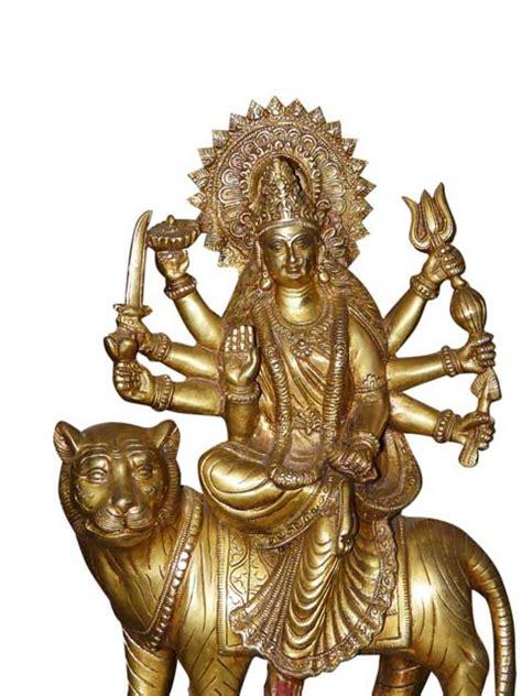 god statues maa sherawali hindu goddess durga tiger beautiful brass statue 15 quot ebay
