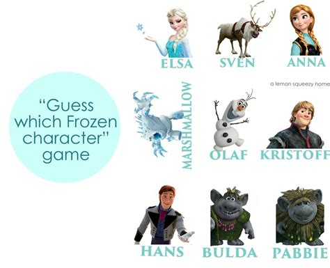printable frozen characters disney s frozen party simple and affordable