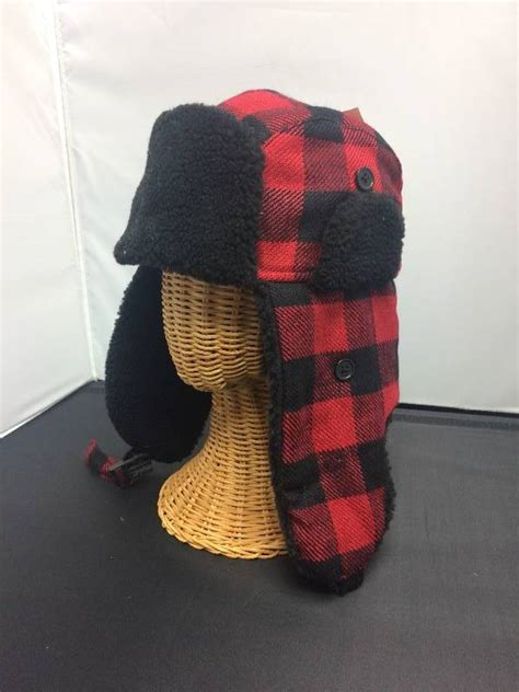 trapper hat plaid brand new s and s