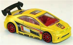 Hot Wheels Yellow Honda Civic SI Diecast HW Nightburnerz