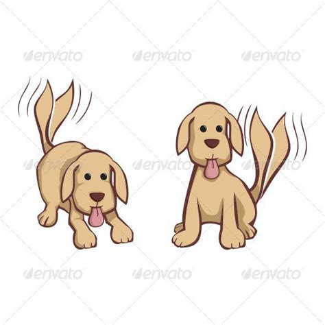 wagging puppies with wagging graphicriver