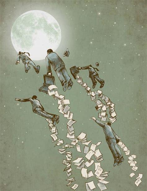 painting escape illustration prints by eric fan