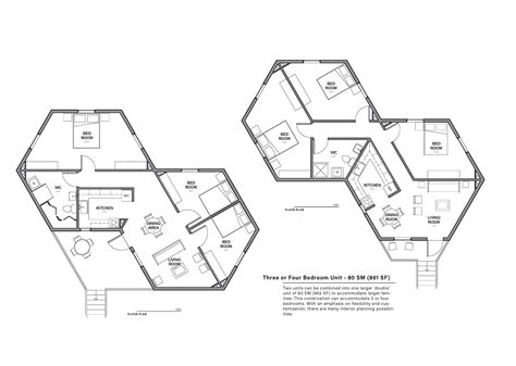 hexagon floor plans hex house is an affordable and rapidly deployable solar
