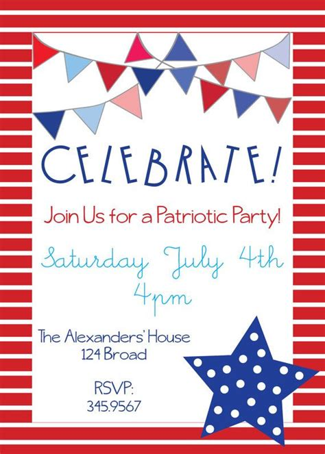 patriotic invitation templates free 39 best images about white and blue birthday on