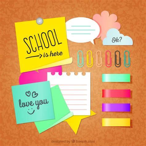imagenes de notas escolares pack de notas escolares descargar vectores gratis