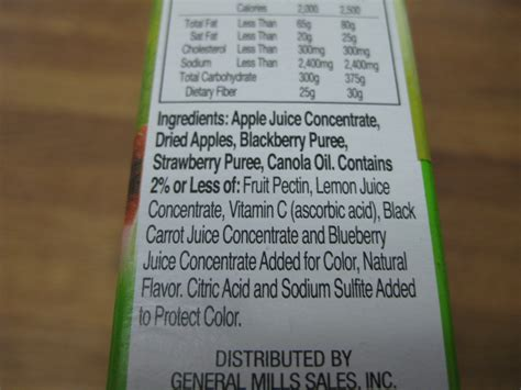 fruit roll up ingredients taste test fruit roll ups simply fruit relishments