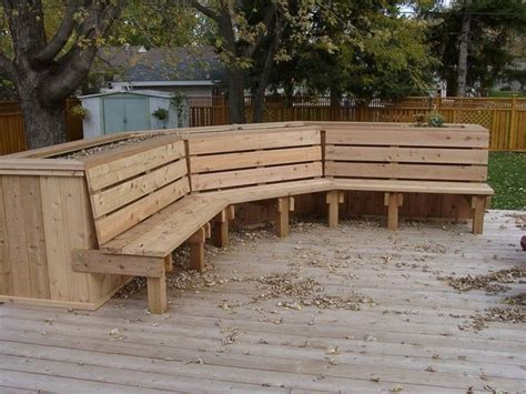 Deck Planter Bench by Bench Planter Box For The Home