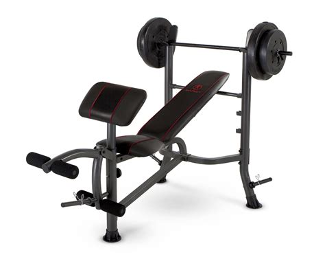 complete weight bench set marcy fitness standard weight bench with 80 lb weight set