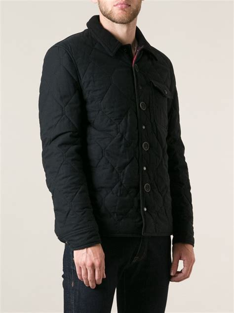 Burberry Brit Jacket Quilted by Burberry Brit Quilted Jacket In Black For Lyst