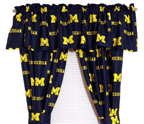 university of michigan curtains university of michigan wolverines window treatments
