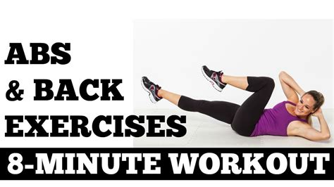 8 minute abs and back exercises length strength workout