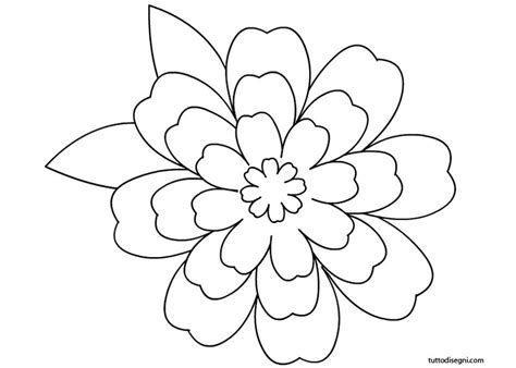 fiore disegno da colorare disegno fiore violetta da colorare