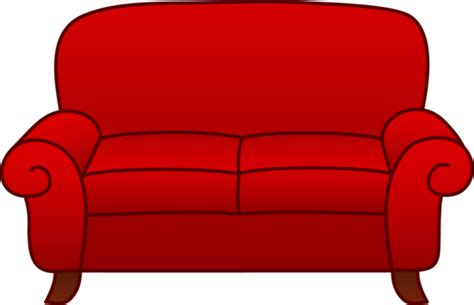 comfy couch cartoon red living room sofa free clip art