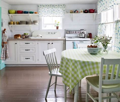 Curtains And Tablecloth In The Kitchen Country Style Country Style Curtains For Kitchens