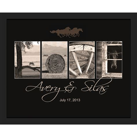 personalized western quot quot framed canvas