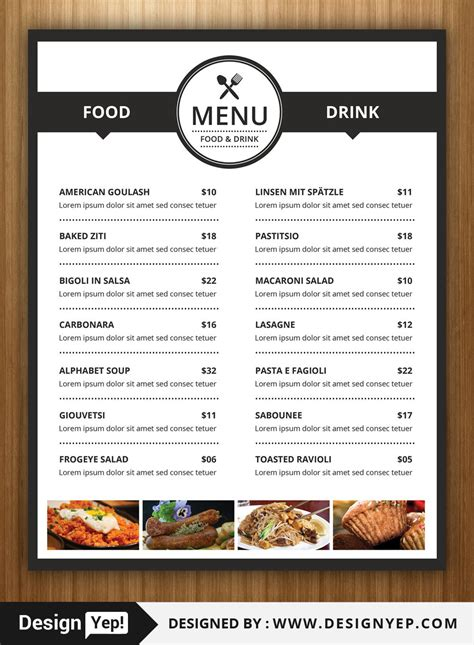 40 Restaurant Food Menu Design Psd Templates Decolore Net Restaurant Menu Design Templates