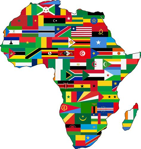 africa map vector png free vector graphic africa continent countries flags