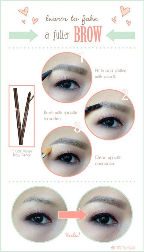 korean eyebrow makeup tutorial 17 best images about make up on pinterest asian eye
