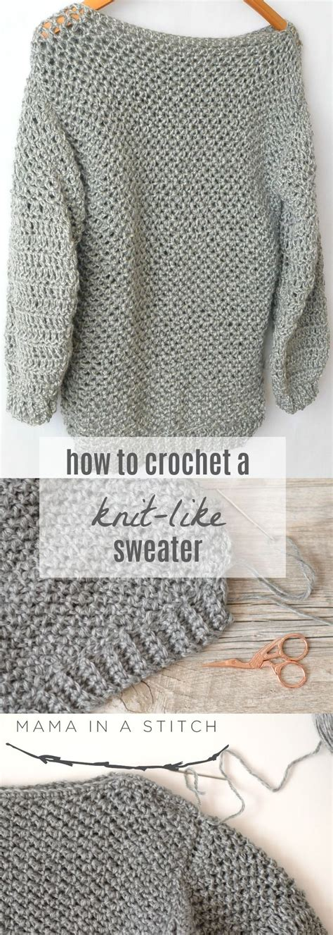 how to knit a sweater easy best 25 crochet sweaters ideas on crochet