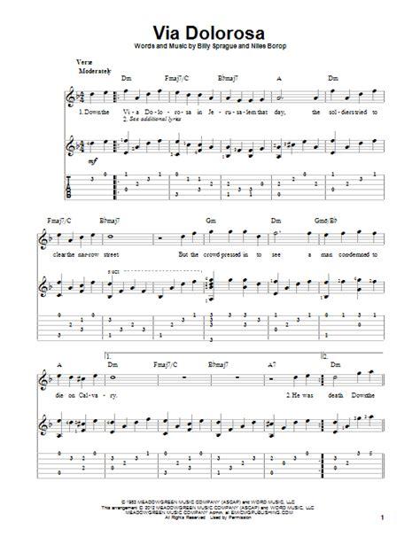 printable lyrics to via dolorosa via dolorosa sheet music direct