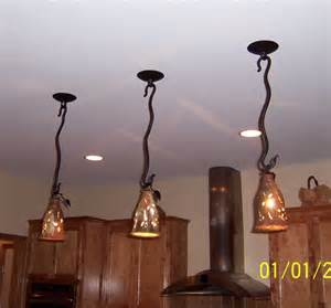 Drop Lights For Kitchen Island by Silver Creek Pottery