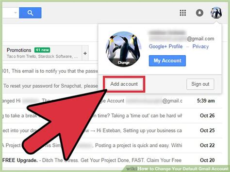 how to change your default gmail account 11 steps with pictures