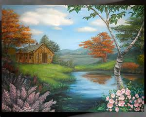 Landscape Pictures For Acrylic Painting Traditional Acrylic Landscape On Behance