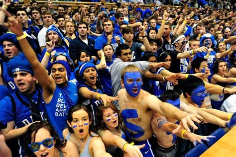 duke student section 7 reasons duke is the notre dame football of college