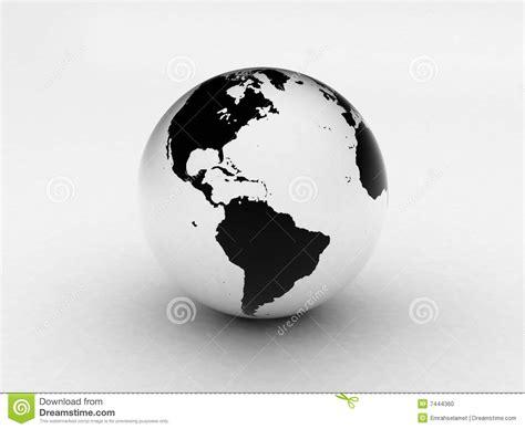 imagenes blanco y negro de la tierra globo blanco y negro de la tierra 3d foto de archivo