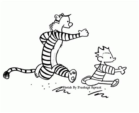 calvin and hobbes free coloring pages coloring home