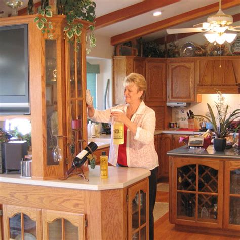 how to refresh your kitchen with wood cabinet cleaner