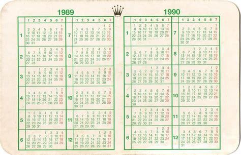 Calendario Ano 1990 1989 1990 Vintage Rolex Calendar Calendario 16520 16550 Ebay