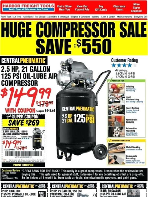 5 hp electric motor harbor freight motors for air compressors compressor 29 gallon coupon a