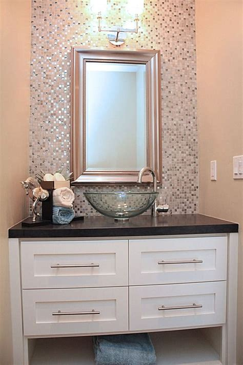 glass tile countertop powder room contemporary with accent best 20 glass vessel ideas on pinterest glass vessel