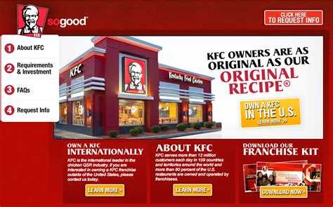 how much does a franchise cost kfc franchise info