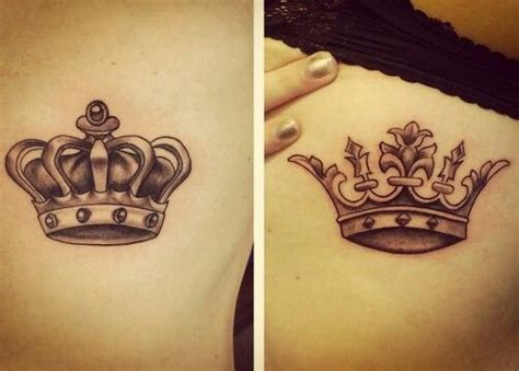 matching crown tattoos for couples oltre 25 fantastiche idee su tatuaggi corona su
