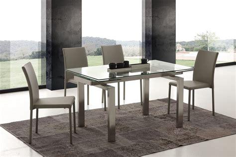 tavolo rotondo allungabile cristallo tavolo da cucina allungabile in vetro pranzo soggiorno