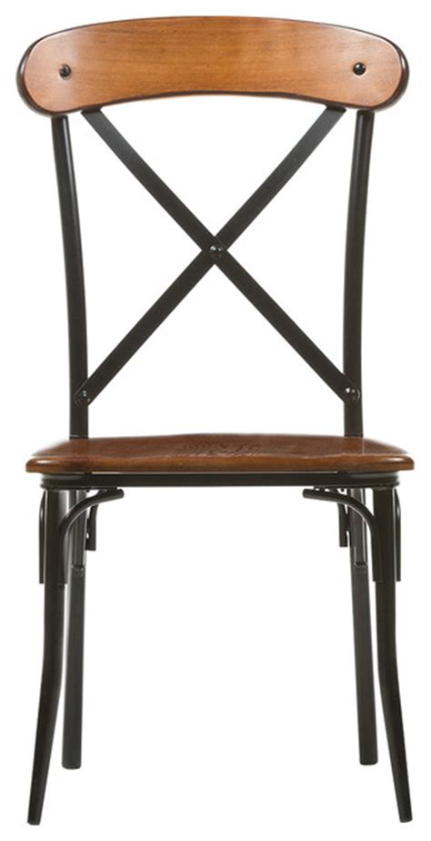 2 dining chairs with steel frame light brown vidaxl com broxburn light brown wood and metal dining chair set of 2