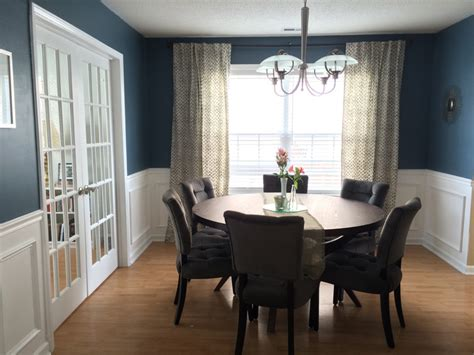 navy blue dining room table dining room before after