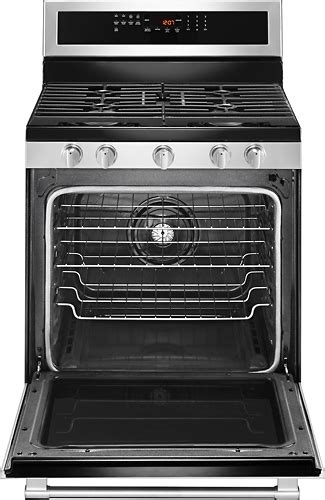 maytag  cu ft  cleaning freestanding gas convection range fingerprint resistant