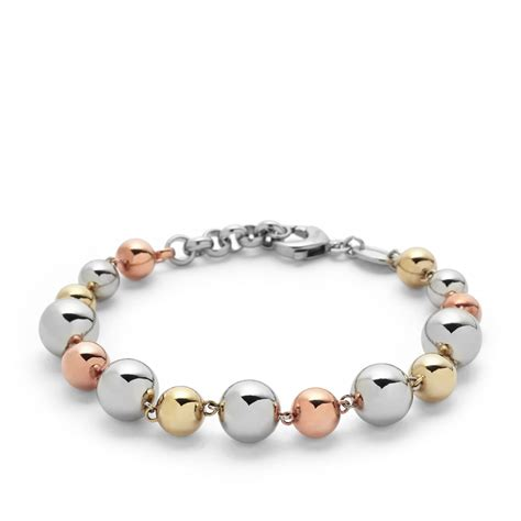 fossil beaded bracelet fossil multi beaded bracelet jf01316998