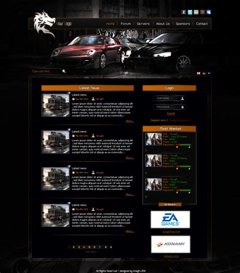 gaming templates nfs gaming template by lifefromcasino on deviantart