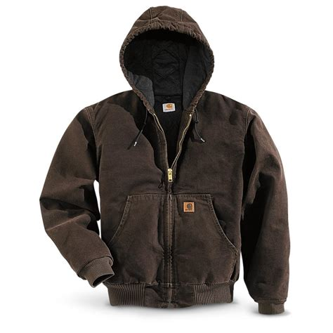carhartt coat carhartt s sandstone active jacket 227998 insulated jackets coats at