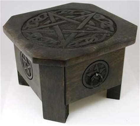 Wiccan Altar Table by 7 Quot Celtic Pentagram Altar Table With Drawer Pagan Wicca Witch