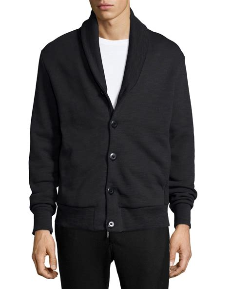 Rag Bones Mandarin Collar Wool Tailcoat by Rag Bone Gaspar Shawl Collar Sweater Jacket In Black For