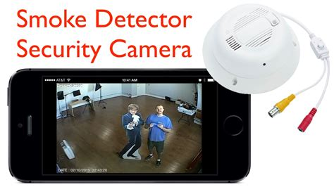 smoke detector security surveillance