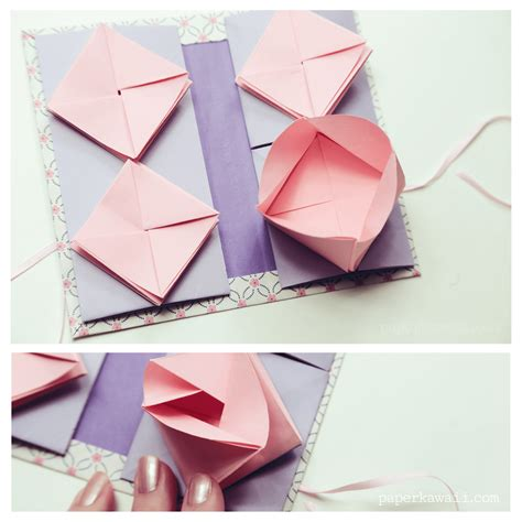 origami thread book tutorial paper kawaii