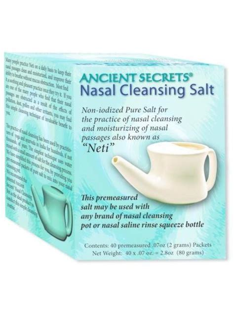 Sinus Detox Symptoms by Nasal Cleansing Salt 40 Packets Ayurvedic Herbs Direct